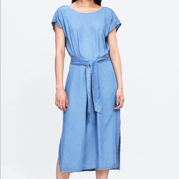 Zara Dresses & Skirts - NWT's Zara Jean Dress With BackOut Slit Medium